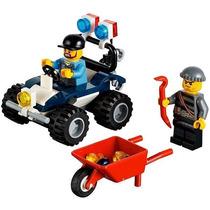 Set Lego City 2 Minifiguras + Jeep Atv Policia + Accesorios