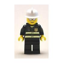 Lego City Minifigura De Bombero Nuevo!!!!