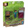 Minecraft Overworld Survival Pack Figura + Cubos + Cama Orig