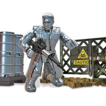 Set Minifigura Terminator T1000 Con Base Y Armas Mega Bloks