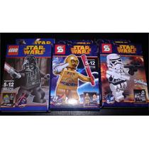 Minifiguras Star Wars:pack X 3 Darth Vader,c3po,stormtrooper