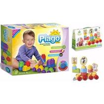 Combo Rasti Piago 20p + Mickey Trencito Bloques Blandos Bebé