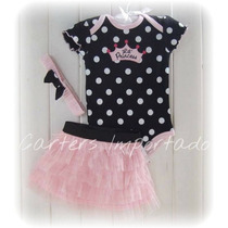 Set Princesa Body Tutu Vincha Chocolette Bebes Carters