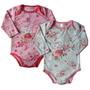 Set Body Manga Larga Algodon Bordado Packx 2 Bebe 0-24 Meses