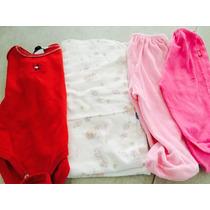430. Súper Barato Lote De Manta, 2 Pantalones Y Body Tommy.