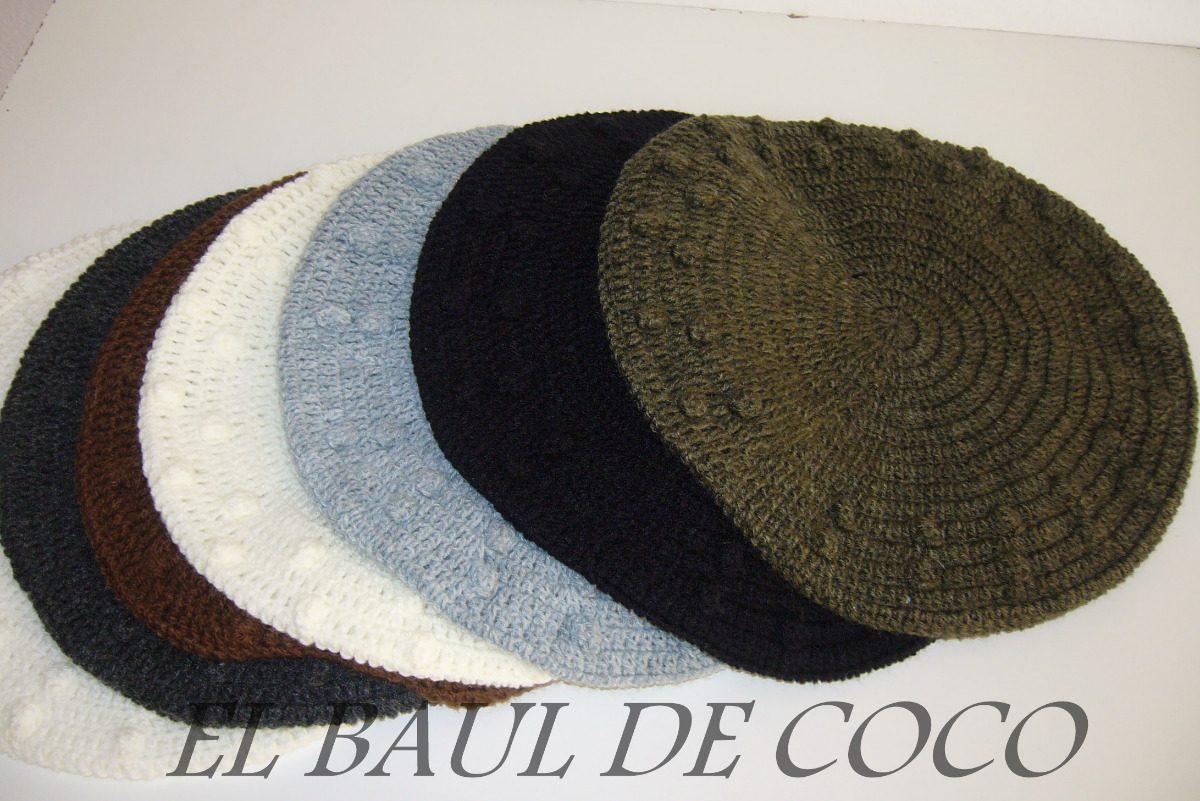 Boinas Tejidas Al Crochet - $ 60,00 en MercadoLibre