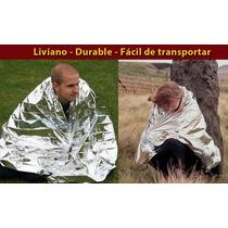 Manta Térmica Emergencia Supervivencia Mylar Dynarex 213x132