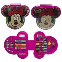 Minnie Set De Arte 33 Piezas C/lic.disney Original