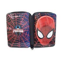Cartuchera Spiderman 3 Pisos C/cierre Licencia Original