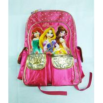 Mochila Escolar Carro Grande Princesas De Disney Original