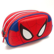 Spiderman Cartuchera Canopla 3d 2 Cierres Neoprene Lic.orig.