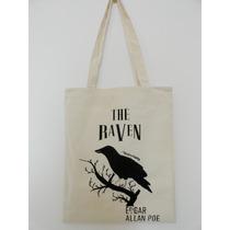 Bolsa De Lienzo Totebag The Raven El Cuervo Edgar Allan Poe