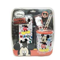 Mickey Mouse Set De Regalo Escolar Con Lic.disney Original