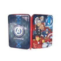 Cartuchera Avengers 1 Piso C/cierre Licencia Original