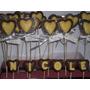 Chupetines De Chocolate Doble Corazón Comunión Bautismo