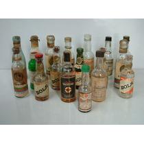 Lote De 18 Botellitas Miniaturas Bebidas Alcoholicas