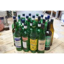 10 Botellas1 Litro Vacias Verdes A Rosca Tipo Gancia Cinzano