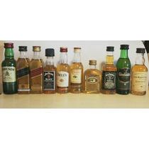 Lote 10 Minibotellitas De Whiskys