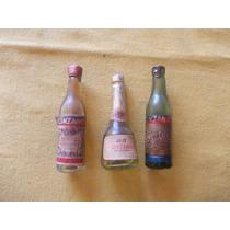 Lote 3 Mini Botella Cinzano Biter/ Asti /vermuth