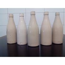 Antiguo Porrón-botella De Cerveza De Cerámica Gres-lote De 5