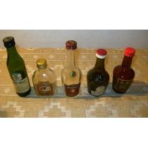 Lote 5 Mini Botellitas Licor, Whisky, Benedictine Y +