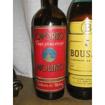 Antigua Botella Oporto Molino Cerrada