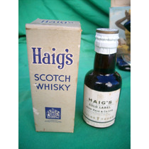 Botellita En Miniatura Whisky Haigs En Caja