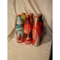 7 Botellas De Coca Cola Coleccionables