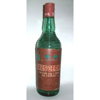 Antigua Botella Tres Cepas-domecq Licor De Cafe-en La Plata