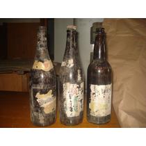 3 Botellas Antiguas De Cerveza Quilmes Andes Y Bieckert
