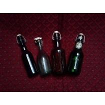 Botellas Antiguas Pico Porcelana Tapón Lote Decoración