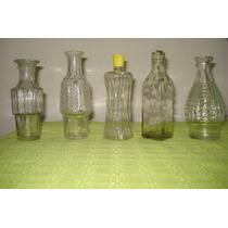 Botellas Antiguas Y Variadas. De Vidrio Facetado. Muy Lindas