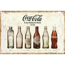 Carteles Antiguos En Chapa Gruesa 20x30cm Coca Cola Dr-017