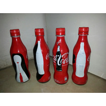 Botellas Coca Cola 100 Años Set X 4 Colombia Cqws