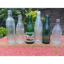 Lote 6 Antiguas Botelllas Labradas Zumtonic Coca Teyu Crush