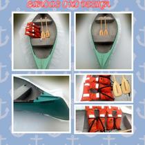 Canoas Canadiense Oxo Promocion Canoa+chalecos+remos