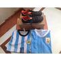 Botines Topper Numero 37 + Camisetas De Messi Y Suarez
