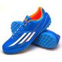 Botines Adidas Modelo F5 Trx Tf Color Azul/blanco/naranja