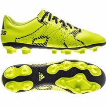 Botines Adidas X 15.4 Fg Solar Yellow / Black Suela Firme