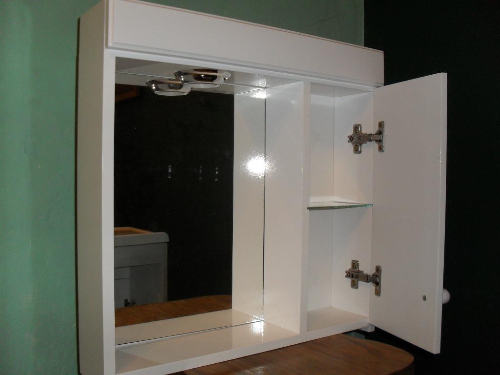 Botiquin Para Baño De Madera:Botiquin Con Espejo Para Baño Laqueado Con Luz – Peinador – $ 339,00