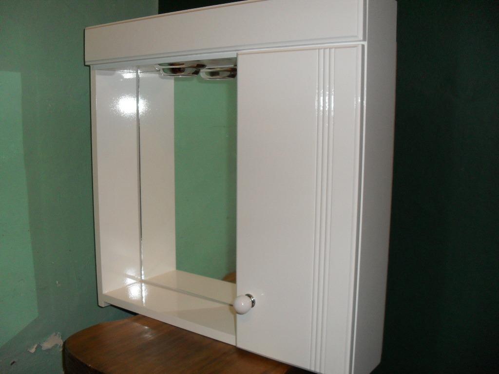 Botiquin Para Baño En Mercado Libre:Botiquin Con Espejo Para Baño Laqueado Con Luz – Peinador – $ 339,00
