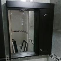 Peinador Botiquín Baño Laqueado Wengue C/ Espejo Y Luz 60x70