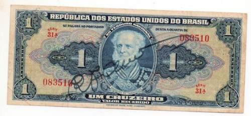 Brasil 1 Cruzeiro Año 1944 Bm 2056