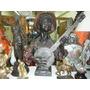 Antiguo Busto Americano De Negro Tocando El Banjo