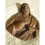 Sagrado Corazón De Jesús En Bronce Patinado Aplique