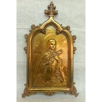 Importante Antigua Placa Religiosa De Bronce Gotuzzo Y Piana