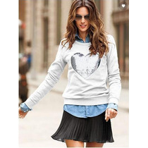 Buzo Victoria´s Secret Con Lentejuelas, Fleece