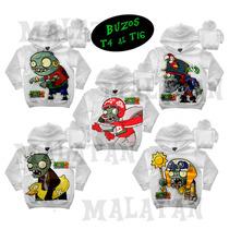 Campera/buzo Capucha Plantas Vs Zombies Minions T4 Al 14