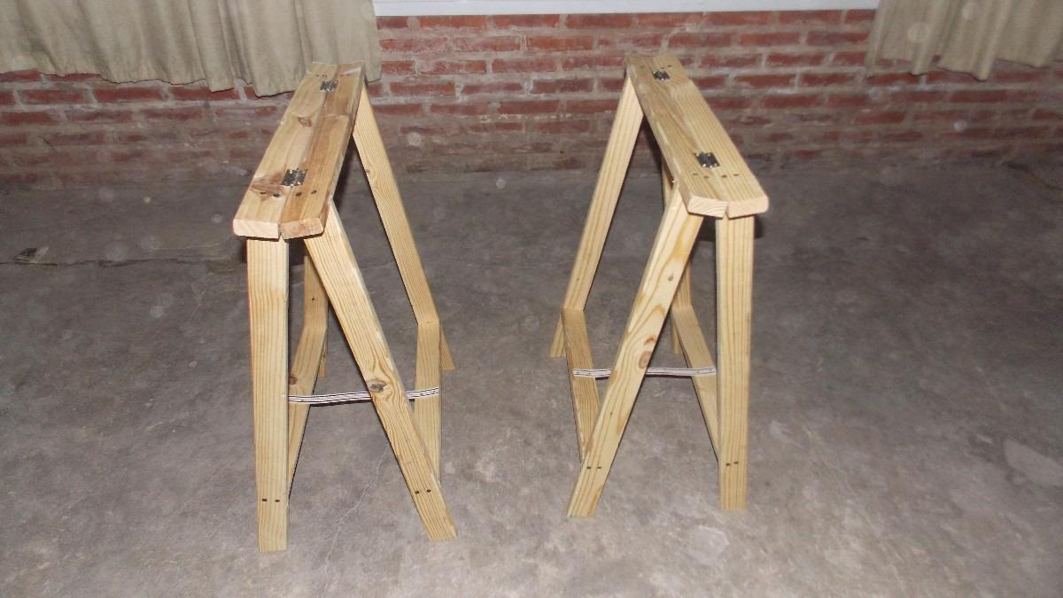 Hice mesa plegable y soporte para led y te muestro taringa - Caballetes de madera ...