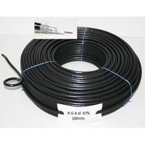Rollo Cable Coaxil Rg6 100m Exelente Precio!!!